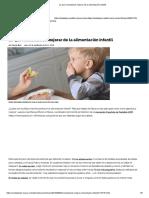 Lo Que Necesitamos Mejorar de La Alimentación Infantil