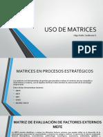uso de matrices