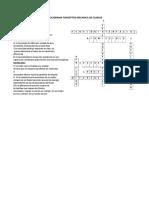 Crucigrama Conceptos Mecanica de Fluidos