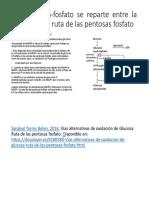 La Glucosa 6-Fosfato Se Reparte Entre La Glucolisis