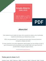 Estado Abierto (UBA, 2019) Clase 1 a 9
