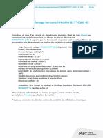 Cctp Conduit de Desenfumage Horizontal Promatectl500 Ei120