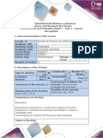 Activity Guide and Evaluation Rubric - Task 1 Course Recognition