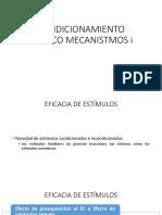 01. Condicionamiento Clásico Mecanismos