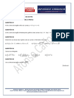 Cálculo II - Lista de Exercícios 01 Para a Prova