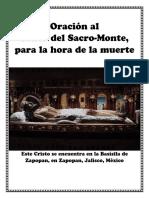 Oracion Para La Hora de La Muerte Al Señor Del Sacromonte