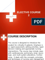 Course Outline - ELECT2