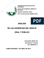 Analisis de Las Audiencias Del Debate Oral y Público Jeraldinne