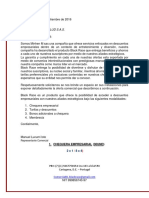 EJEMPLO DE Propuesta Comercial