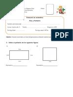 Evaluación Área y Perímetro