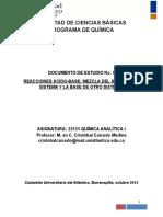 Documento de Estudio No. 9. Reacciones Acido-base Mezclas de Acidos y Bases