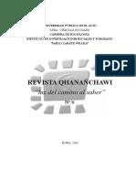 Revista Qananchawi Sociologia Upea Nº 6 2016