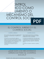 El Control Juridico Como Instrumento o Mecanismo Del