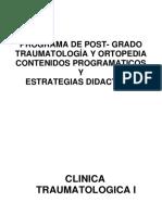 Contenidos de Asignaturas de La RAP Traumatologia