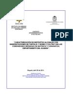 """""""CARACTERIZACIÓN DE DEPÓSITOS ALUVIALES CON MANIFESTACIONES DE TANTALIO Y NIOBIO (""""COLTÁN"""") EN LAS COMUNIDADES INDÍGENAS DE MATRACA Y CARANACOA, DEPARTAMENTO DEL GUAINÍA"""""""