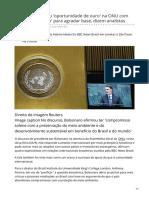 Bbc.com-Bolsonaro Perdeu Oportunidade de Ouro Na ONU Com Discurso Belicoso Para Agradar Base Dizem Analistas