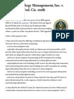 DSS Technology Management, Inc. v. Apple Inc. (Fed. Cir. 2018)