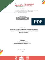 Actividad a 16 Plan de Acción de La Estrategia de Acompañamiento y Comunicación Pedagógica