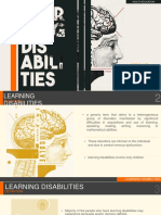 Health Ed - Learning Disabilities