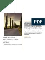 JUEGOS MECANICOS PRODUCTORES DE ENERGIA ELECTRICA