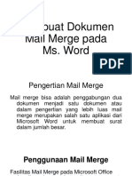 Mail Merge Microsoft Word