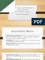Diagnostico de Problemas y Dificultades Psicopedagogicas