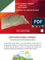 Ventilación de minas y drenaje - Conceptos generales del Drenaje de Minas.pptx