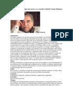 Análisis Del Cuento Algo Muy Grave Va a Suceder Gabriel Gracia Márquez