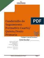 Cuadernillo de Seguimiento Formativo Cuarto,Quinto,Sexto Primaria