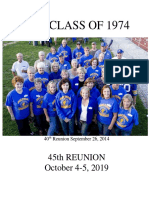 class of 1974 45th reunion book