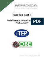 ITEP Practice Test II