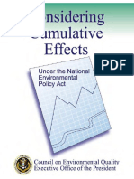 Considering Cumulative Effects, Under the National Environmental Policy Act