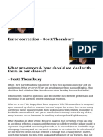 Error Correction - Scott Thornbury - ITDi Blog