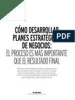Como Desarrolar Planes Estrategicos de Negocios