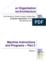 Computer Organization and Architecture (18EC35) - Machine Instructions and Programs - Part 2 (Module 2)