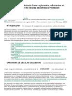 Evaluación de Metástasis Locorregionales y Distantes en Carcinoma Cutáneo de Células Escamosas y Basales