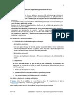 Tema 01 Met Estd Estadística Importancia Organización y Presentación de Datos