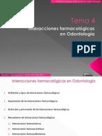 Tema 4.Interacciones Farmacológicas en Odontología