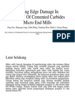 Cutting Edge Damage in Grinding of Cemented Carbides
