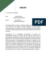 Ejemplo de Informe sobre el Trabajo infantil en la Rep. dom.