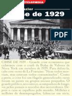 A Crise de 1929 - Bernard Gazier
