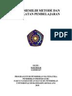 Nur Holis LK4 Memilih Dan Menetapkan Metode Pembelajaran PPG MAT UMM