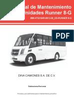 manual de mantenimiento de Runer 8G