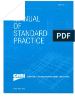 Concrete Reinforcing Steel Institute - Manual of Standard