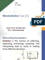 Biostat- Dr.ali - Lec (1)