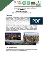 Panamericano Escolar 2019
