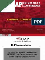 1 Pco 2019 Tema1 - PLANEAMIENTO Y CONTROL DE OPERACIONES - CLASE 1 UAP