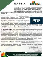 Politica Ssta - Petroinco