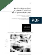Psicologia e a epistemologia no SUS