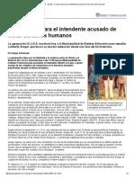 Página_12 __ El País __ Un Escrache Para El Intendente Acusado de Violar Derechos Humanos